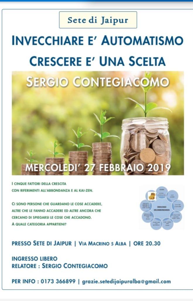 Sergio contegiacomo evento 27/02/2019